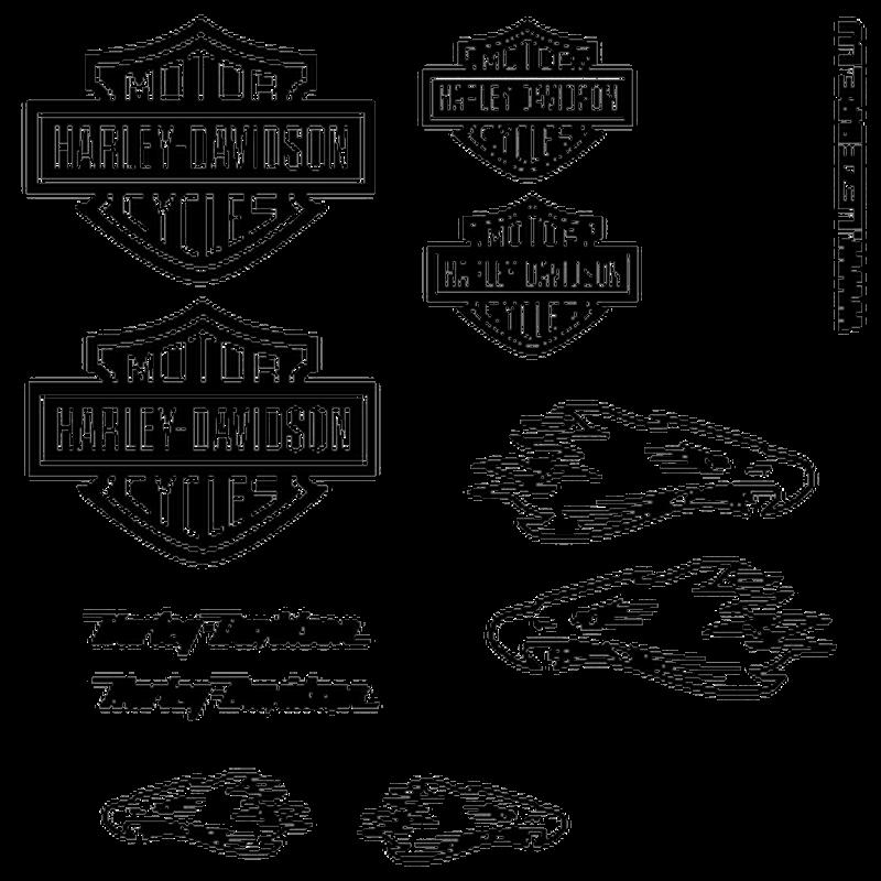 Harley Davidson Eagle decals set 2