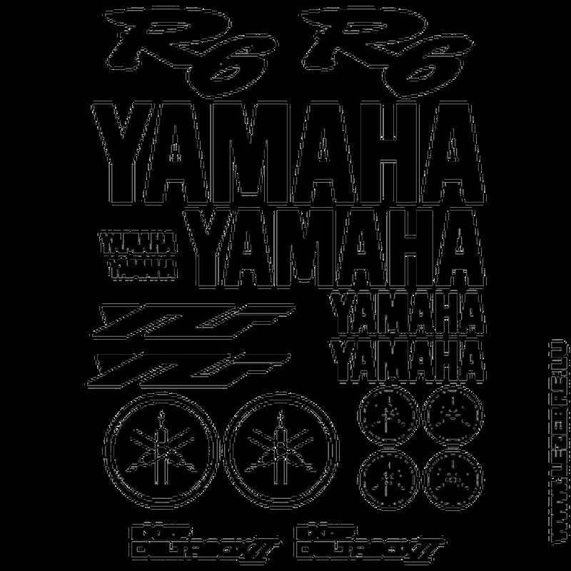 Yamaha YZF R6 Decals Set