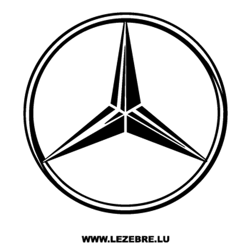 Mercedes Benz Logo Decal 2