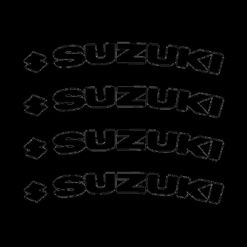 Suzuki Logo rim decals set