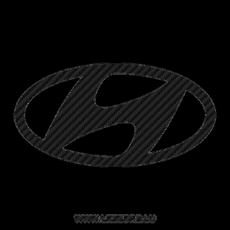 Sticker Carbone Hyundai Logo 2