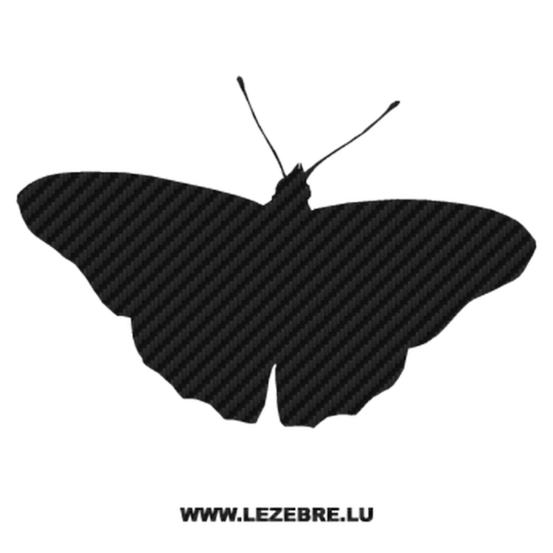 Butterfly Carbon Decal 04