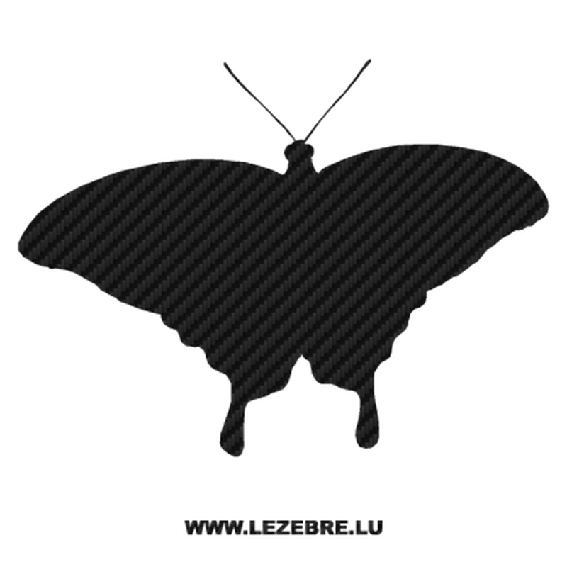 Butterfly Carbon Decal 05