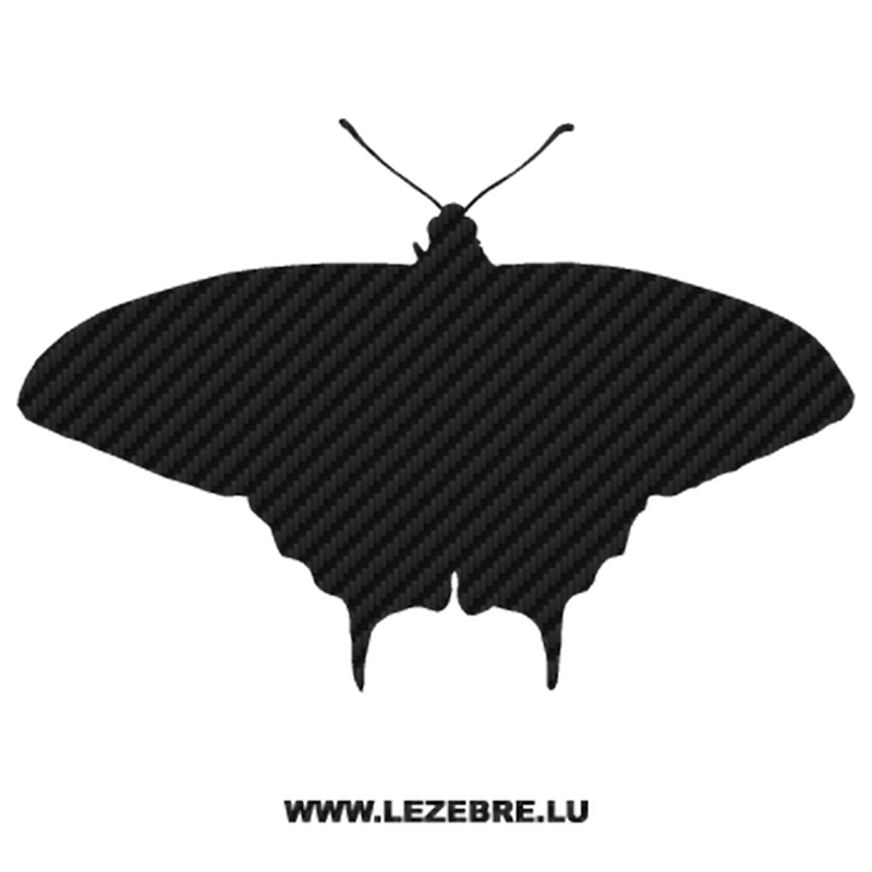 Butterfly Carbon Decal 06
