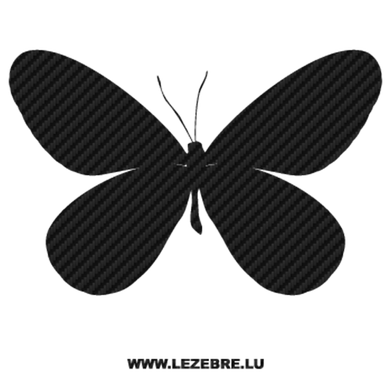 Butterfly Carbon Decal 09