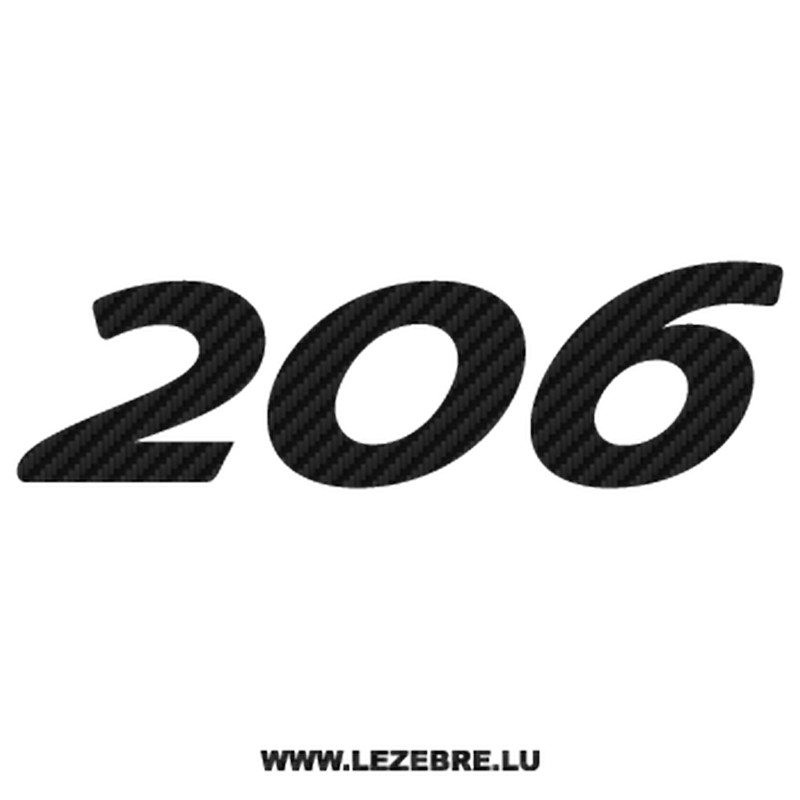 Sticker Carbone Peugeot 206