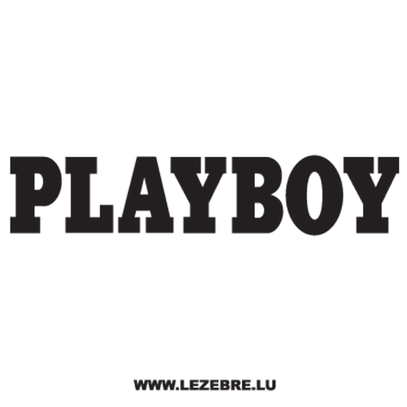 Playboy Logo Ecriture Decal