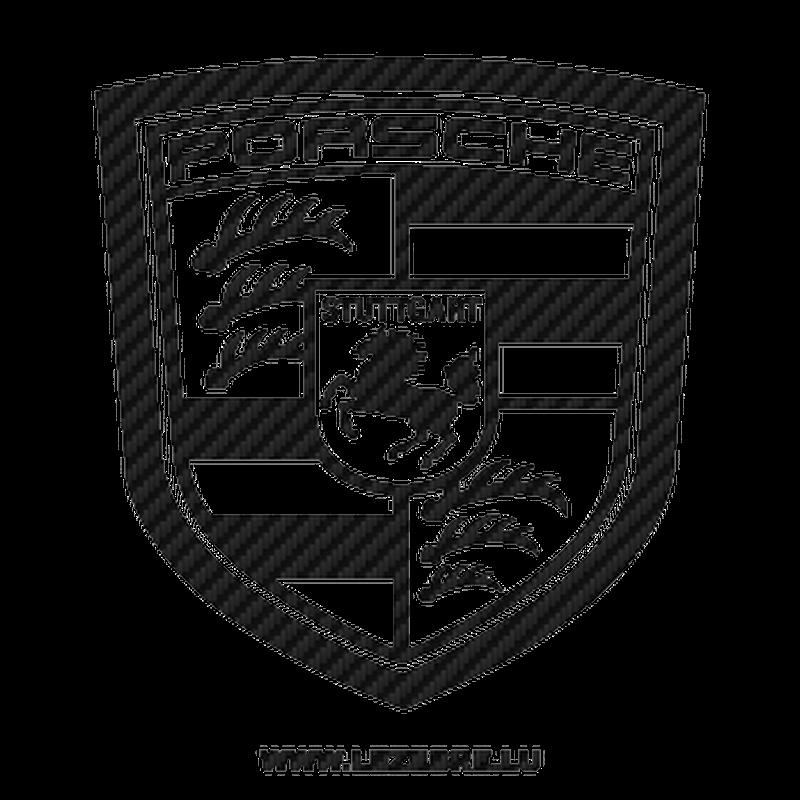 Porsche Logo Carbon Decal