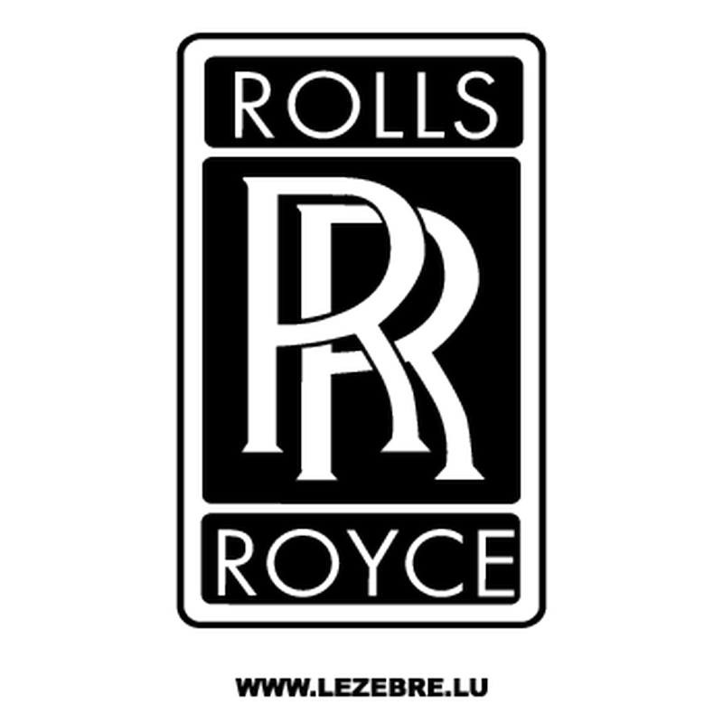 sticker rolls royce logo. Black Bedroom Furniture Sets. Home Design Ideas