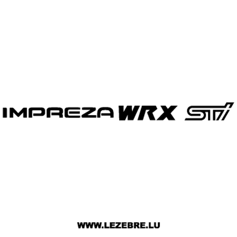 Subaru Impreza WRX STI Decal