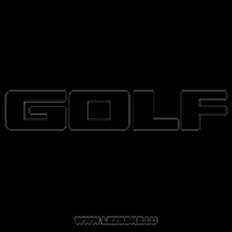 Volkswagen Golf Logo Decal 2