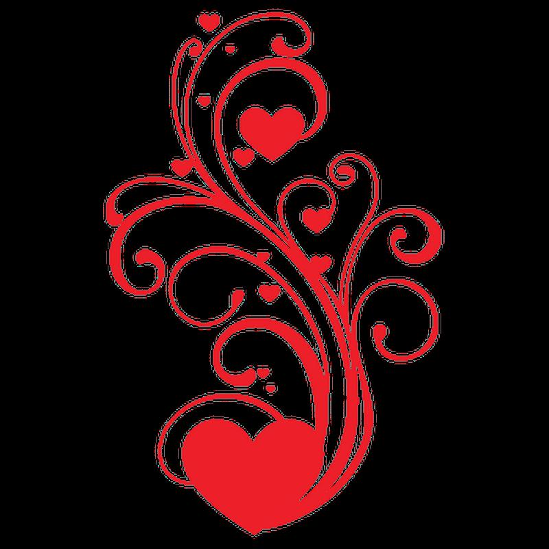 Heart Swirles Decal