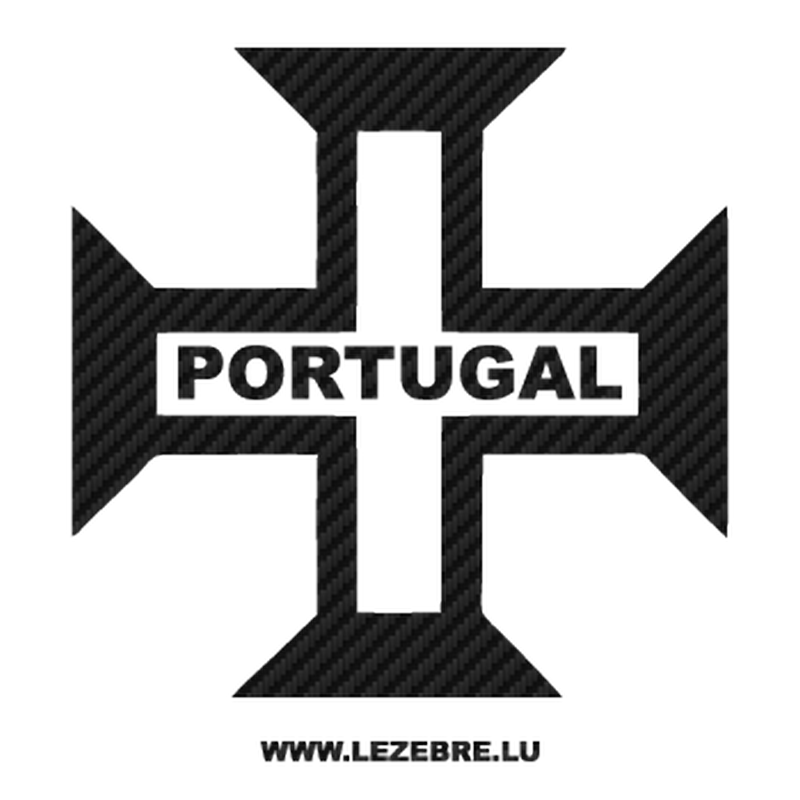 Portugal Cross Carbon Decal