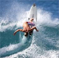Sticker Déco Surfeur Vague