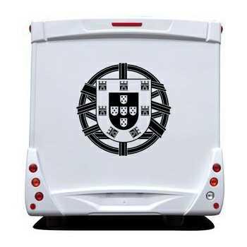 sticker camping car portugal escudo. Black Bedroom Furniture Sets. Home Design Ideas
