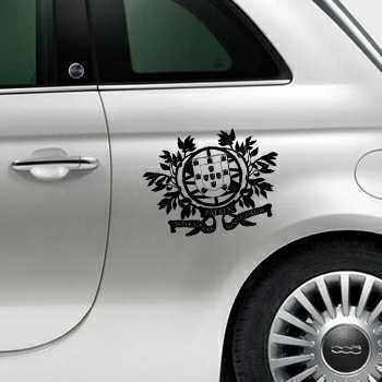 Portugal Escudo Fiat 500 Decal 2