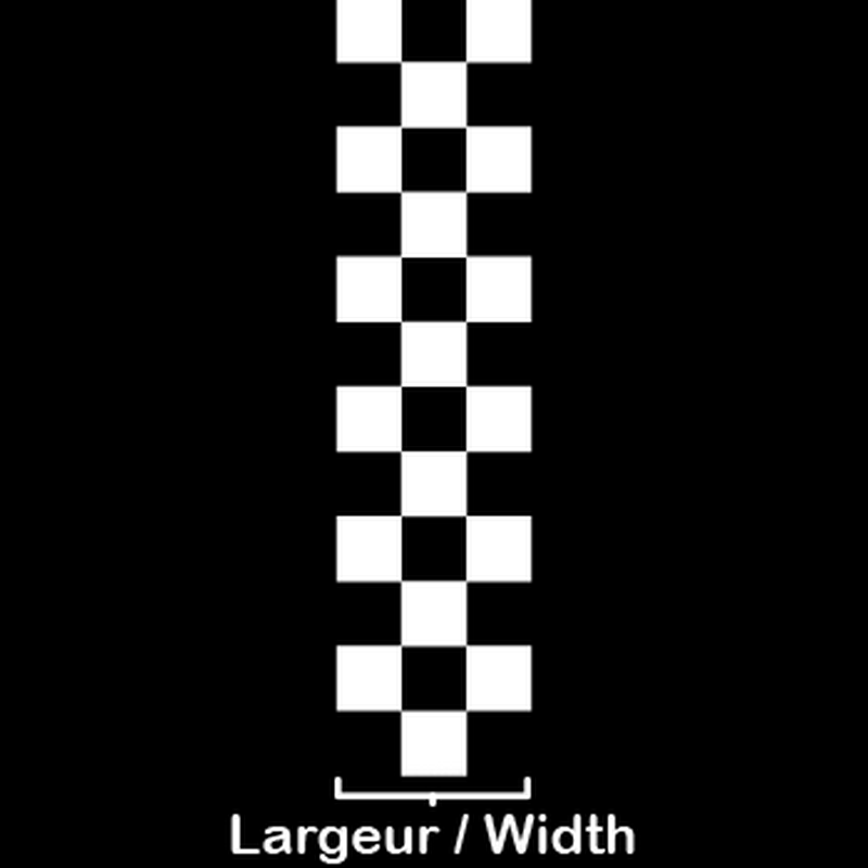 Checkerboard motorcycle strip decal model 2