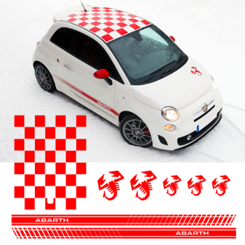 fiat 500 abarth scorpion decals set. Black Bedroom Furniture Sets. Home Design Ideas