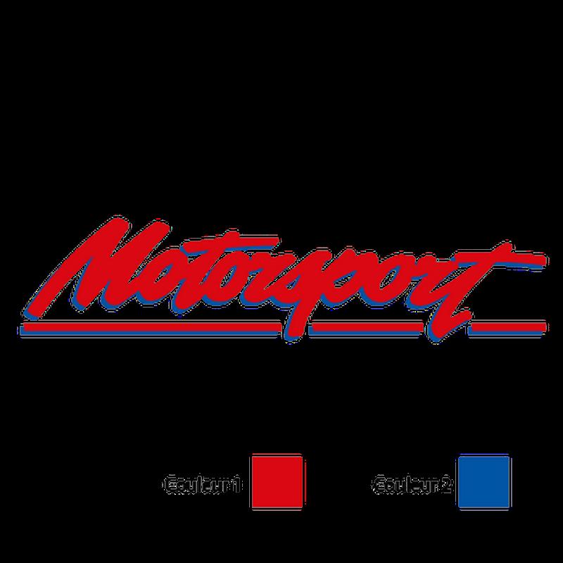 Motorsport logo Decal - 2 colors