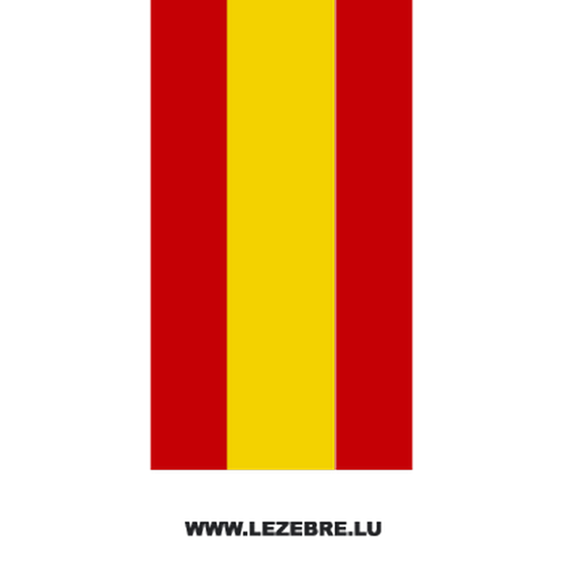 Spanish flag motorcycle strip decal