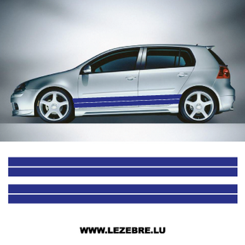 Car Side Double Stripes Set Stickers