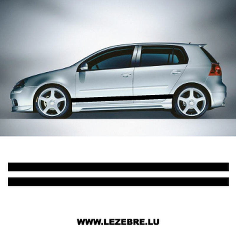 Car Side Single Stripes stickers set