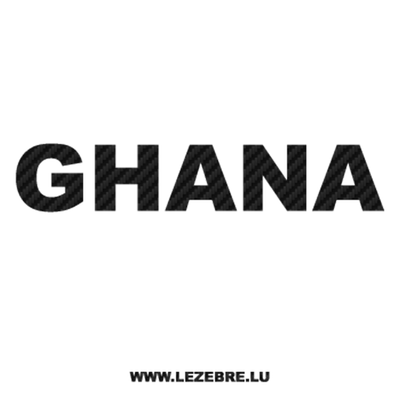 Ghana Carbon Decal
