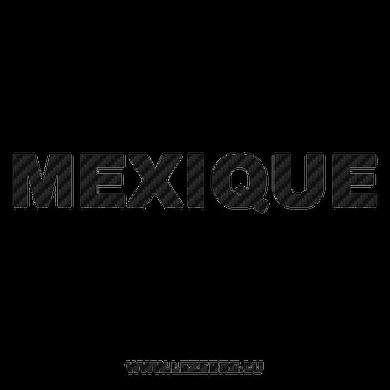 Mexique Carbon Decal