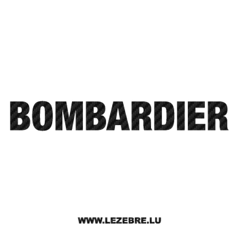 Bombardier Logo Carbon Decal 2
