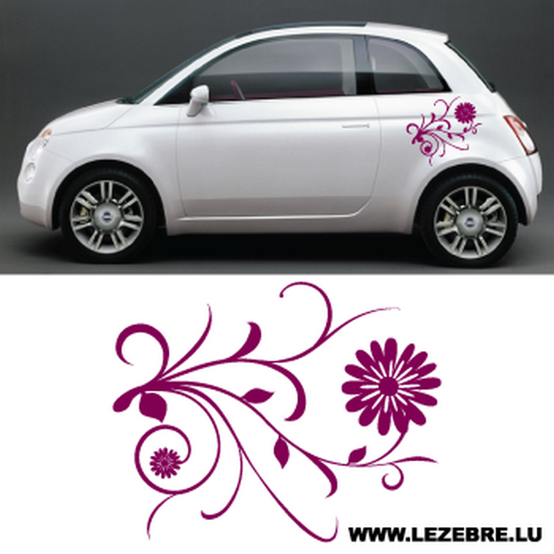 Car Flowers Decal 2