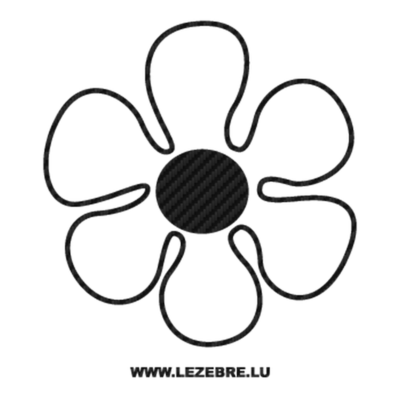 Flower Carbon Decal 3