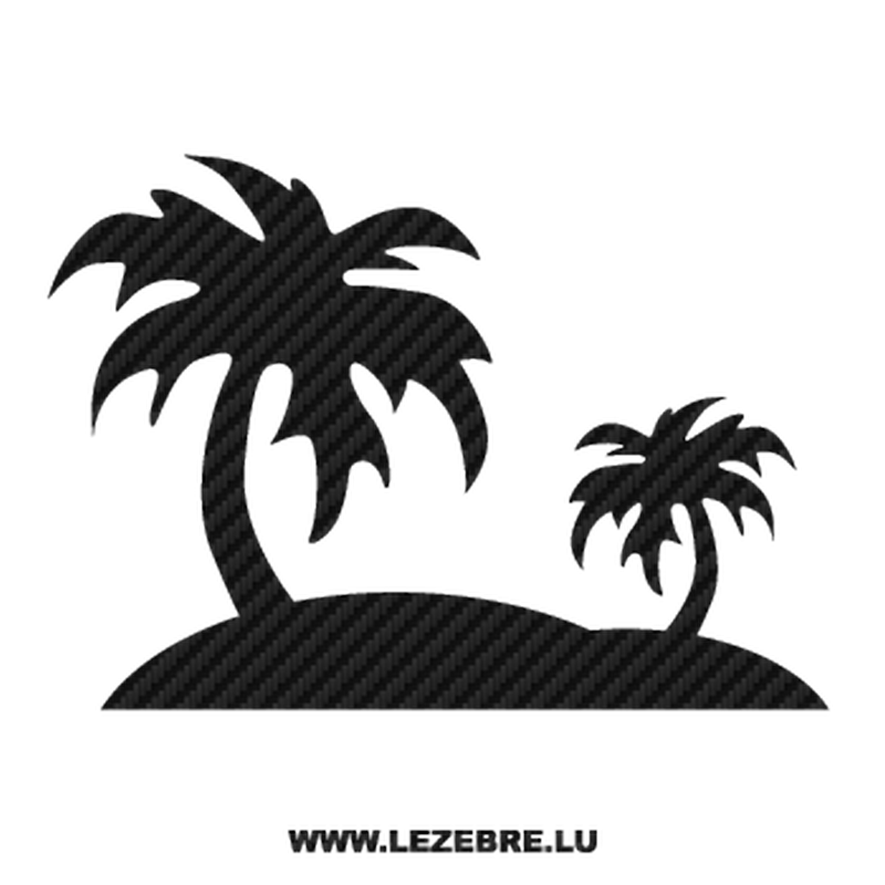 Palm Carbon Decal