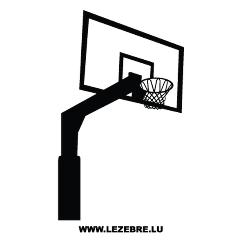 sticker panier basketball. Black Bedroom Furniture Sets. Home Design Ideas