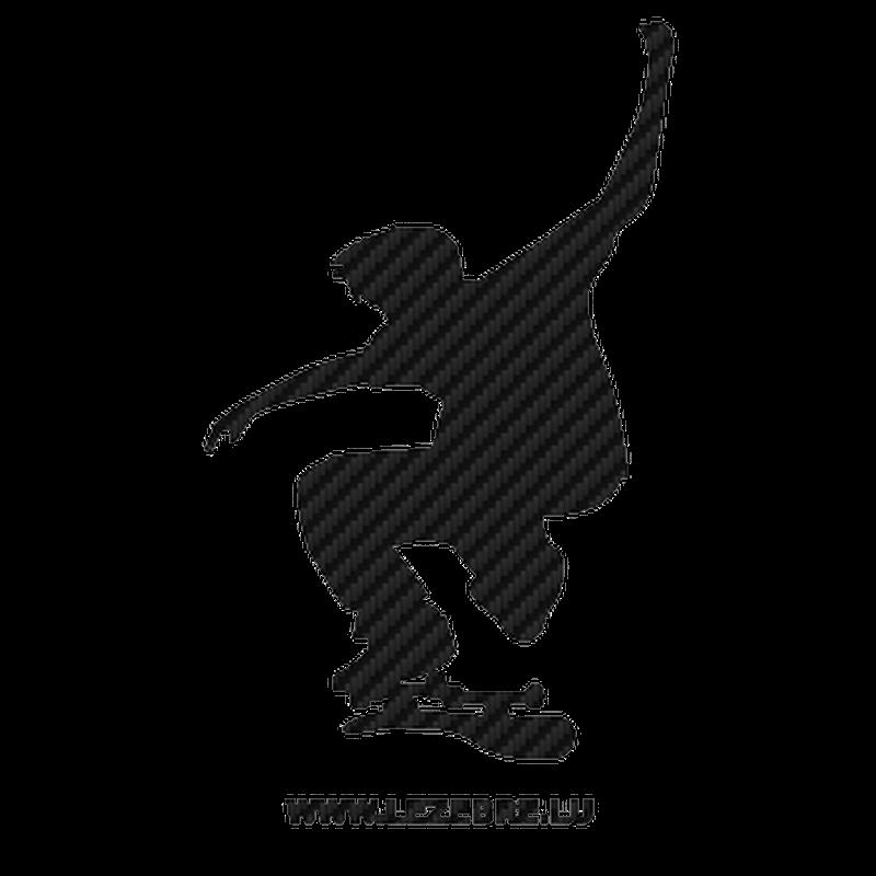 Sticker Carbone Skateur Skateboard