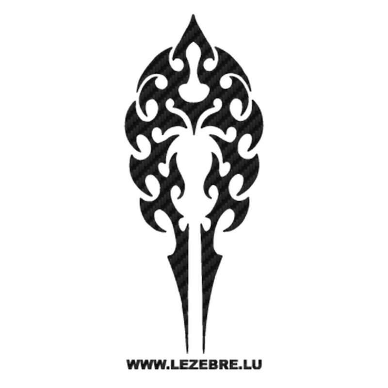 Tribal Carbon Decal 04