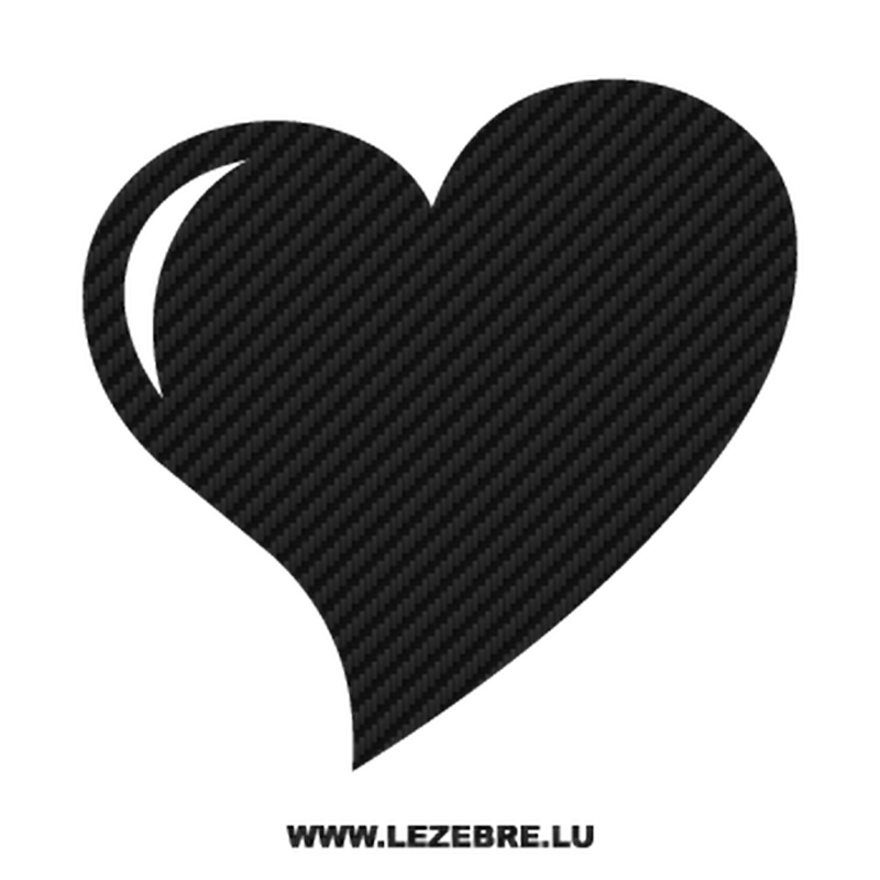 Heart Carbon Decal 4
