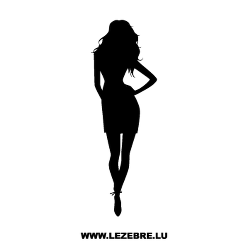 Sexy Woman Silhouette Decal