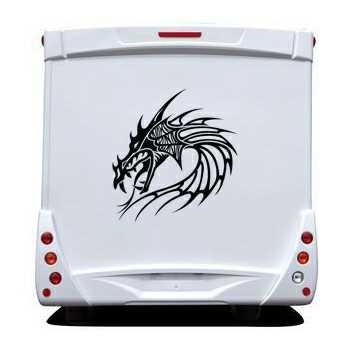 Dragon Head Camping Car Decal 28