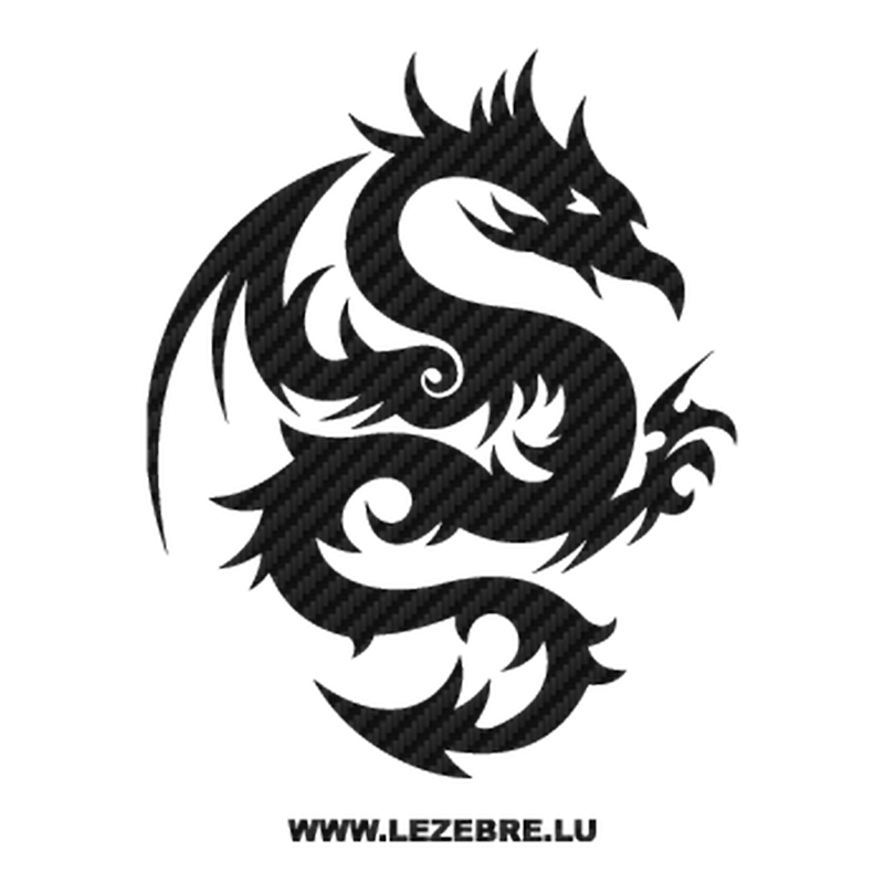 Dragon Tattoo Carbon Decal 23