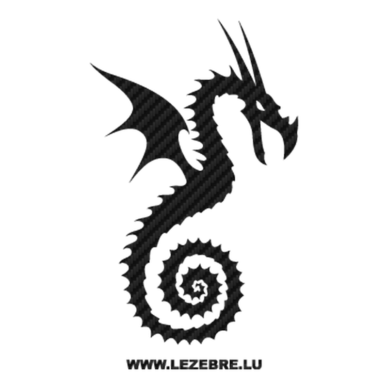 Dragon Carbon Decal 24