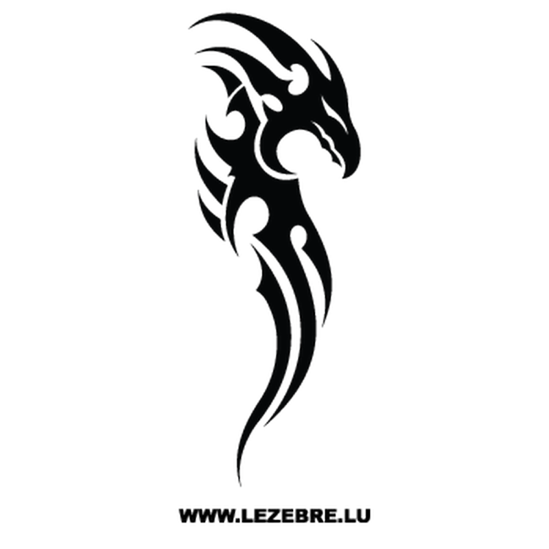 Sticker Drache Tribal