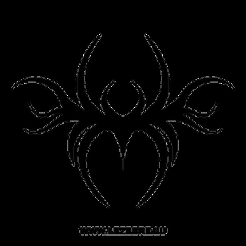 tribal spider sticker 2  lezebre.lu