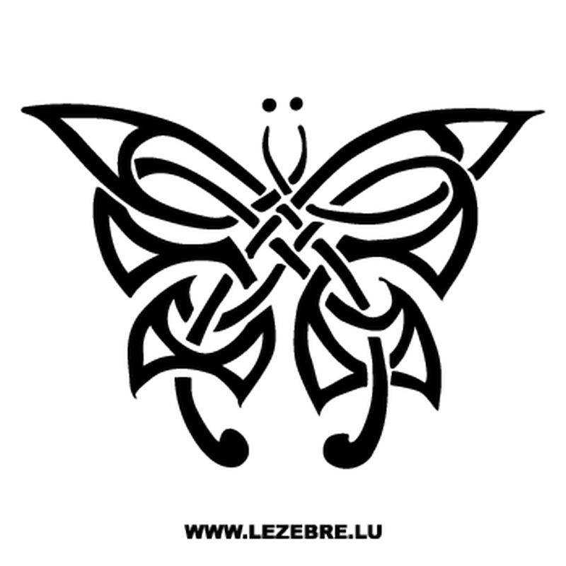 Tribal Butterfly Decal
