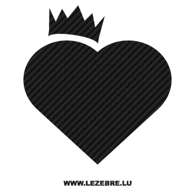 Heart Crown Carbon Decal