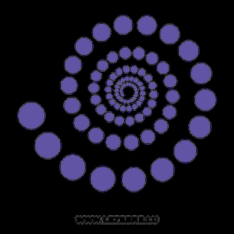 Round Spiral Decal