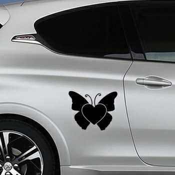 Butterfly Heart Peugeot Decal