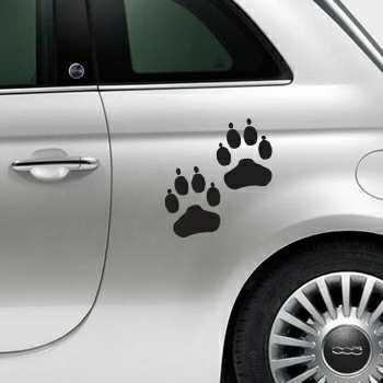 Sticker Fiat 500 Pattes de Hund