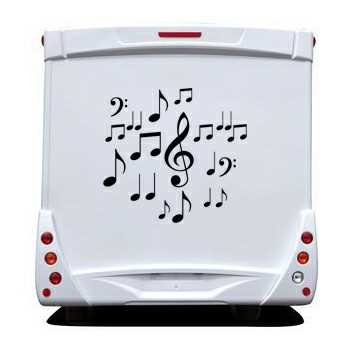 Music Notes Camping Car Decal Set