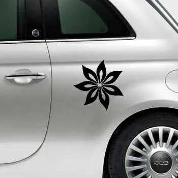 Sticker Fiat 500s Fleurs voiture Fleur 7