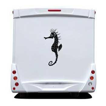 sticker camping car deco poisson hippocampe. Black Bedroom Furniture Sets. Home Design Ideas